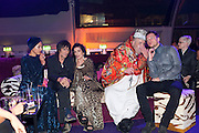 RONNIE WOOD; ANA ARAUJO;;BIANCA JAGGER; LEO BELLICA;  , Dinner and party  to celebrate the launch of the new Cavalli Store at the Battersea Power station. London. 17 September 2011. <br /> <br />  , -DO NOT ARCHIVE-© Copyright Photograph by Dafydd Jones. 248 Clapham Rd. London SW9 0PZ. Tel 0207 820 0771. www.dafjones.com.