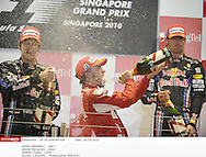 en nocturne .. *** Local Caption *** vettel (sebastian) - (ger) -..alonso (fernando) - (esp) - ..webber (mark) - (aus) -