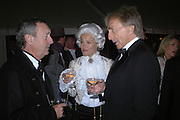 NICK MASON, TARA AGACE AND DEREK BELL. Goodwood Revival Ball. Saturday 17 September 2005.  ONE TIME USE ONLY - DO NOT ARCHIVE  © Copyright Photograph by Dafydd Jones 66 Stockwell Park Rd. London SW9 0DA Tel 020 7733 0108 www.dafjones.com