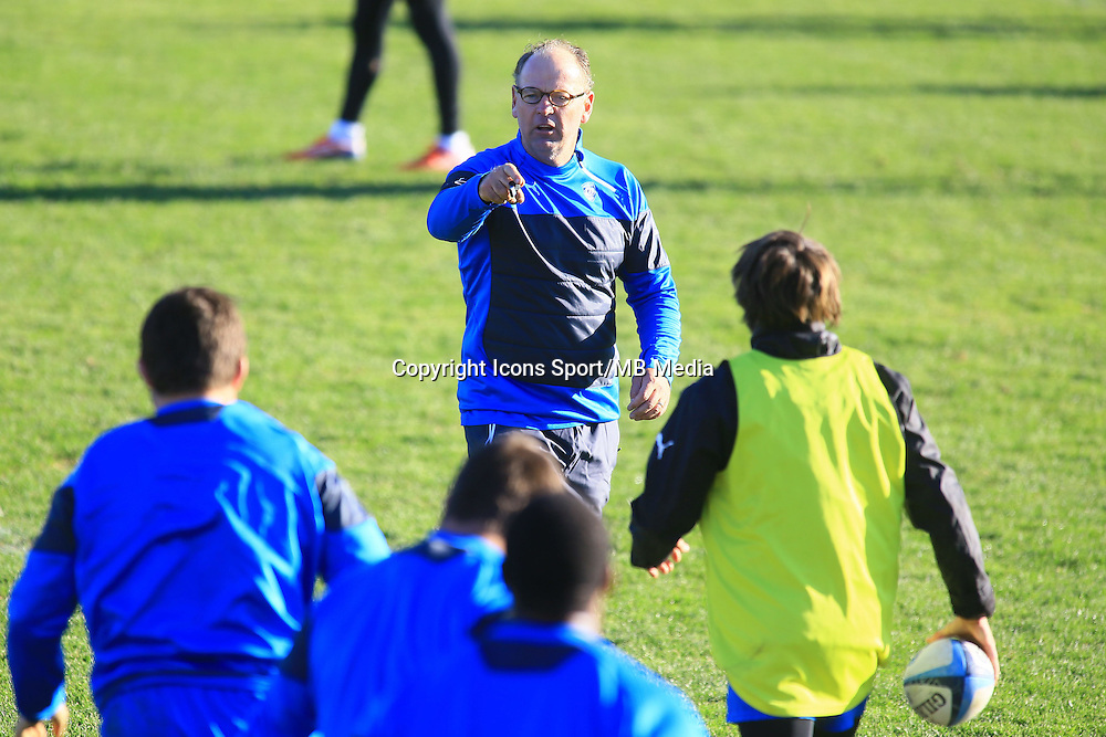 Jake WHITE - nouveau coach - 31.12.2014 - Rugby - Entrainement Montpellier - Top 14<br />