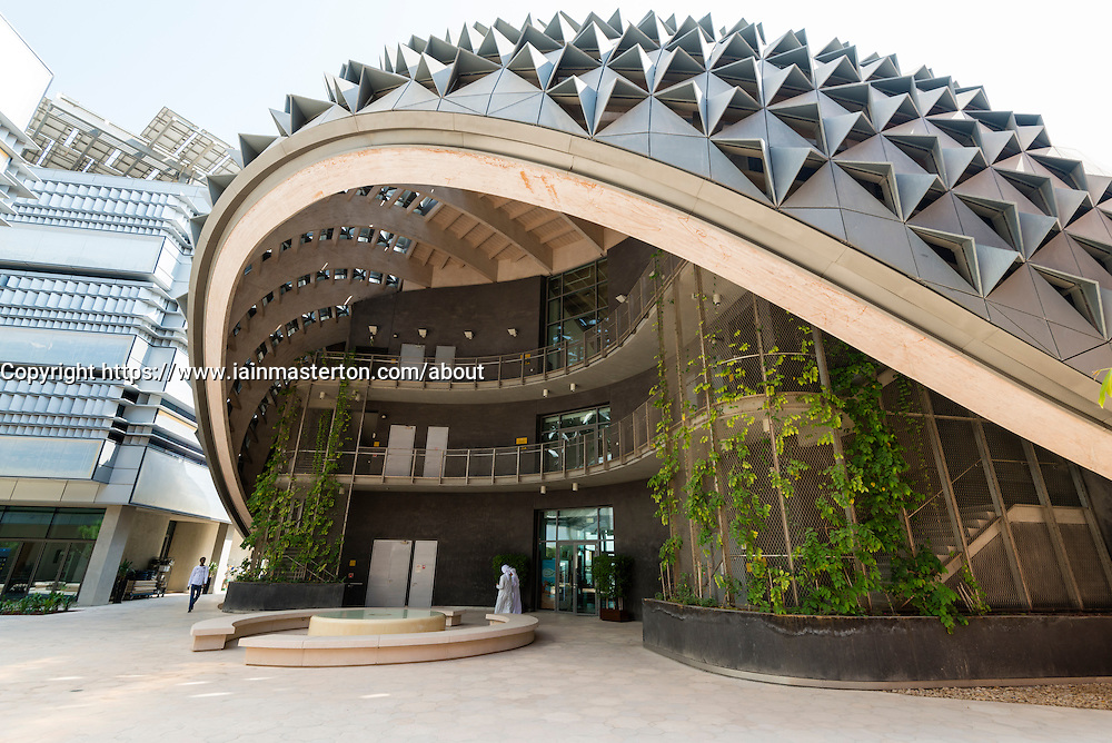 Masdar City new research centre incorporating Masdar Institue of Science and Technology for developing clean and renewable energy in Abu Dhabi UAE