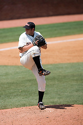 Oregon State Beavers P Joe Paterson (26) pitched in relief against Virginia. The Oregon State Beavers defeated the Virginia Cavaliers 7-3 in Game 7 of the NCAA World Series Charlottesville Regional held at Davenport Field in Charlottesville, VA on June 5, 2007.  With the win, the Beavers advance to the NCAA Super Regional.