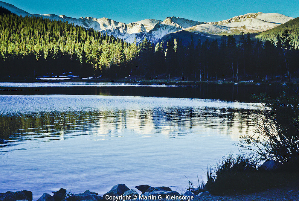Reflections of Mount Evans in Echo Lake, Colorado.