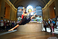Dance As Art New York City Photography Project Grand Central Series with dancer, Erin Aslami