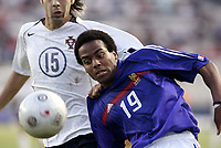 FOOTBALL - UNDER 21 TOULON TOURNAMENT 2005 - FINAL - FRANCE v PORTUGAL - 10/06/2005 - JIMMY BRIAND (FRA) / PAULO MONTEIRO (POR)<br />