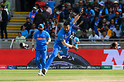 Hardik Pandya of India bowling during the ICC Cricket World Cup 2019 match between Bangladesh and India at Edgbaston, Birmingham, United Kingdom on 2 July 2019.