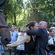 Roma 25/05/2018 Piazza di Siena<br /> 86 CSIO Piazza di Siena<br /> Bruno Chimirri bacia la compagna