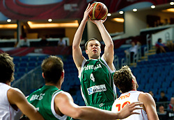 Uros Slokar of Slovenia during the fifth-place basketball match between National teams of Slovenia and Spain at 2010 FIBA World Championships on September 10, 2010 at the Sinan Erdem Dome in Istanbul, Turkey.   (Photo By Vid Ponikvar / Sportida.com)