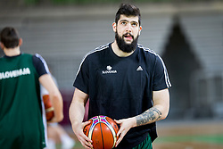 Ziga Dimec during practice session of Slovenian National Basketball team before qualification matches for FIBA Basketball World Cup 2019, on February 20, 2017 in Arena Stozice, Ljubljana, Slovenia. Photo by Urban Urbanc / Sportida