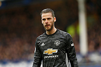 Football - 2019 / 2020 Premier League - Everton vs. Manchester United<br /> <br /> Manchester United keeper David De Gea, at Goodison Park.<br /> <br /> COLORSPORT/ALAN MARTIN