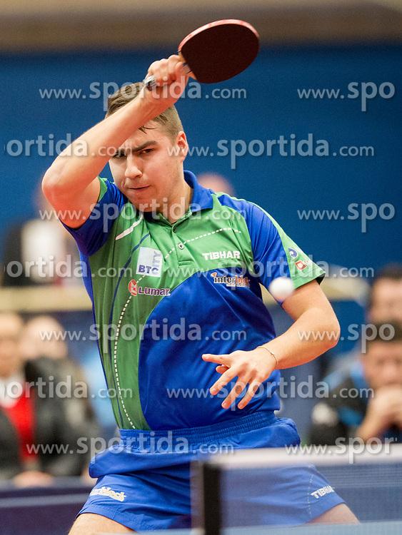 Darko Jorgic of Slovenia during Qualification match between National teams of Slovenia and Belgium for ITTF European Championship 2019, on February 27, 2018 in Otocec, Slovenia. Photo by Urban Urbanc / Sportida