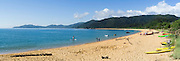 Panoramic view of Totaranui Beach, Abel Tasman National Park, near Takaka, New Zealand