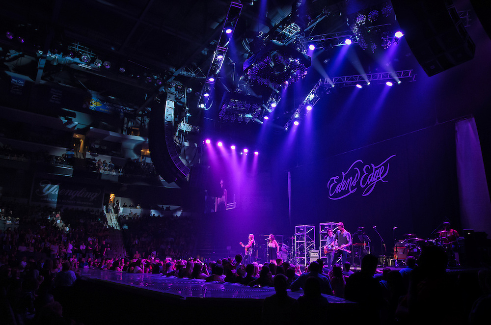 Eden's Edge performing at Huntington Center in Toledo, OH on October 4, 2012 as part of the Rascal Flatts Changed Tour
