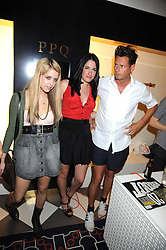 Left to right, PEACHES GELDOF, AMY MOLYNEAUX and PERCY PARKER at the PPQ of Mayfair Summer Party at 47 Conduit Street, London on 30th July 2008.<br /> <br /> NON EXCLUSIVE - WORLD RIGHTS
