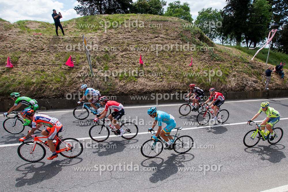 Grega Bole of Vini Fantini-Nippo. Maxime Monfort of Lotto Soudal and Davide Malacarne of Astana during the 13 stage of 99th Giro d'Italia from Palmanova to Cividale del Friuli, on May 20, 2016 in Palmanova, Italy. Photo by Joze Urbanc / Sportida