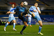Ed Upson and Michael Rose compete for the ball during the The FA Cup third round replay match between Coventry City and Bristol Rovers at the Trillion Trophy Stadium, Birmingham, England on 14 January 2020.