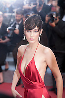 Bella Hadid at the gala screening for the film The Unknown Girl (La Fille Inconnue) at the 69th Cannes Film Festival, Wednesday 18th May 2016, Cannes, France. Photography: Doreen Kennedy