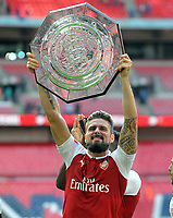 Football - 2017 Community Shield - Chelsea vs. Arsenal<br /> <br /> Arsenal's Oliver Giroud with the Shield at Wembley.<br /> <br /> <br /> COLORSPORT/ANDREW COWIE