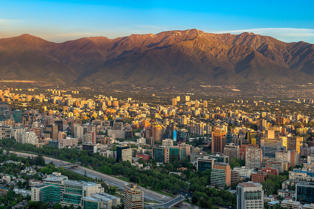 Santiago de Chile with Andes Mountains in the background, Santiago, Chile<br />