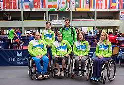 Team Slovenia at 15th Slovenia Open - Thermana Lasko 2018 Table Tennis for the Disabled, on May 9, 2018, in Dvorana Tri Lilije, Lasko, Slovenia. Photo by Vid Ponikvar / Sportida