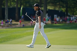 August 9, 2018 - St. Louis, Missouri, United States - Tommy Fleetwood walks off the 15th green during the first round of the 100th PGA Championship at Bellerive Country Club. (Credit Image: © Debby Wong via ZUMA Wire)
