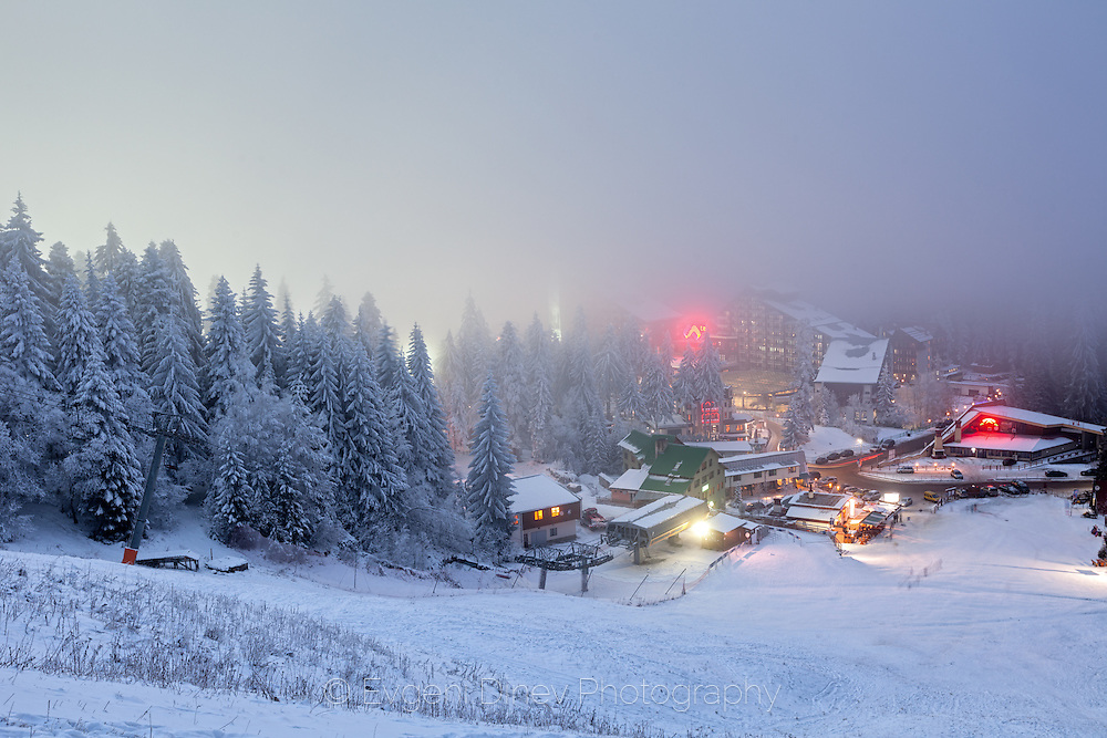 Borovets ski resort at winter