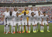 JACKSONVILLE, FL - JUNE 07:  The United States starting lineup poses for a pre-game team picture before the international friendly match against Nigeria at EverBank Field on June 7, 2014 in Jacksonville, Florida.  (Photo by Mike Zarrilli/Getty Images)