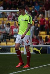 Nottingham Forest's Greg Halford  - Photo mandatory by-line: Nigel Pitts-Drake/JMP - Tel: Mobile: 07966 386802 25/08/2013 - SPORT - FOOTBALL -Vicarage Road Stadium - Watford -  Watford v Nottingham Forest - Sky Bet Championship