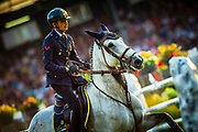 Lorenzo DE LUCA (ITA) riding Irenice Horta during the Nations Cup of the World Equestrian Festival, CHIO of Aachen 2018, on July 13th to 22th, 2018 at Aachen - Aix la Chapelle, Germany - Photo Christophe Bricot / ProSportsImages / DPPI