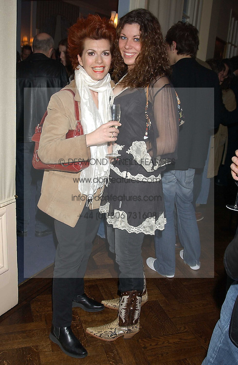 Left to right, CLEO ROCCOS and JADE ADAMS at a party to celebrate the launch of Dkkor Records at Kettners, Romilly Street, Soho, London on 31st March 2005.<br /><br />NON EXCLUSIVE - WORLD RIGHTS