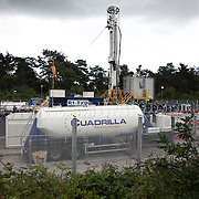 The Cuadrilla fracking site and the drill. Thousands turned out for a march of solidarity against fracking in Balcombe. The village Balcombe in Sussex is the  centre of fracking by the company Cuadrilla. The march saw anti-fracking movements from the Lancashire and the North, Wales and other communities around the UK under threat of gas and oil exploration by fracking.