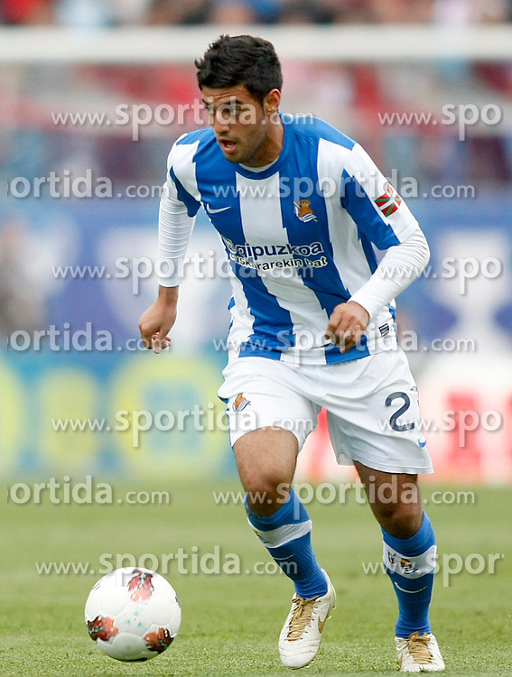 02.05.2012, Vicente Calderon Stadion, Madrid, ESP, Primera Division, Atletico Madrid vs Real Sociedad, Ersatztermin, im Bild Real Sociedad's Carlos Vela // during the football match of spanish 'primera divison' league, alternate date, between Atletico Madrid and Real Sociedad at Vicente Calderon stadium, Madrid, Spain on 2012/05/02. EXPA Pictures © 2012, PhotoCredit: EXPA/ Alterphotos/ Acero..***** ATTENTION - OUT OF ESP and SUI *****