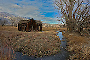 Old Rustic Abandoned Barn in Bishop