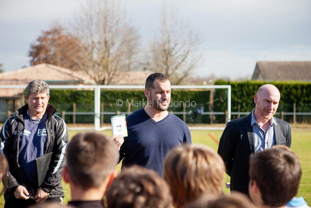 Sébastien Boueilh au club de football de Soustons, France.