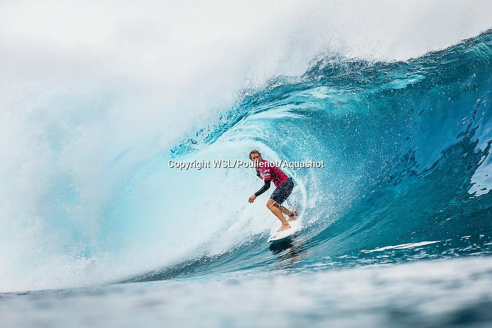 John John Florence (HAW)  placed 1st in Heat 3 of Round Four at Billabong Pro Tahiti 2017