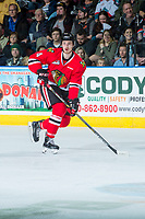 KELOWNA, CANADA - APRIL 14: Conor MacEachern #4 of the Portland Winterhawks skates against the Kelowna Rockets on April 14, 2017 at Prospera Place in Kelowna, British Columbia, Canada.  (Photo by Marissa Baecker/Shoot the Breeze)  *** Local Caption ***