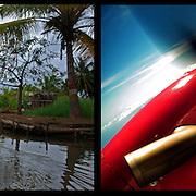 DAILY VENEZUELA II / VENEZUELA COTIDIANA II<br /> Photography by Aaron Sosa <br /> <br /> Left: Sinamaica Lagoon, Zulia State - Venezuela 2009 / La Laguna de Sinamaica, Estado Zulia - Venezuela 2009<br /> <br /> Right: Getting to Sucre State, Venezuela 2005<br /> <br /> (Copyright © Aaron Sosa)