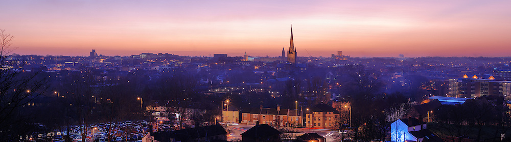 Norwich panoramic city skyline