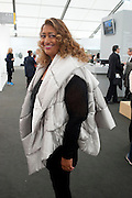 ZAHA HADID, OPENING OF FRIEZE ART FAIR. Regent's Park. London.  12 October 2011. <br /> <br />  , -DO NOT ARCHIVE-© Copyright Photograph by Dafydd Jones. 248 Clapham Rd. London SW9 0PZ. Tel 0207 820 0771. www.dafjones.com.