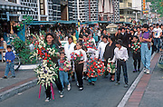 ECUADOR, HIGHLANDS, BANOS funeral procession