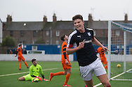 Dundee' s Mark Smith celebrates after opening the scoring - Dundee v Dundee United in the SPFL Development League at Links Park, Montrose. Photo: David Young<br /> <br />  - &copy; David Young - www.davidyoungphoto.co.uk - email: davidyoungphoto@gmail.com