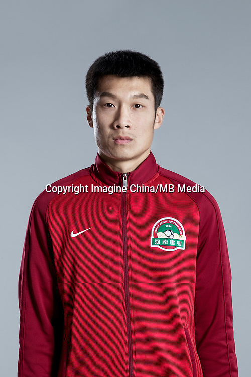Portrait of Chinese soccer player Gu Cao of Henan Jianye F.C. for the 2017 Chinese Football Association Super League, in Zhengzhou city, central China's Henan province, 19 February 2017.