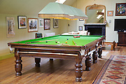 The snooker room at The Old Rectory, Chumleigh, Devon <br /> CREDIT: Vanessa Berberian for The Wall Street Journal<br /> LUXRENT-Nanassy/Chulmleigh