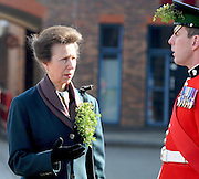 The Princess Royal hands out Shamrock