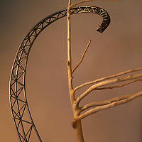 Prevailing Winds detail sculpture, steel, handmade