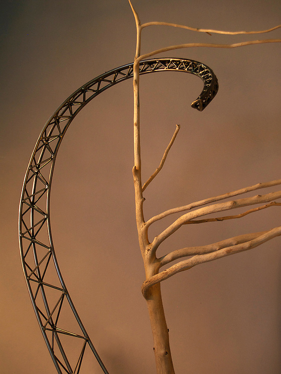 Prevailing Winds detail sculpture, steel, handmade