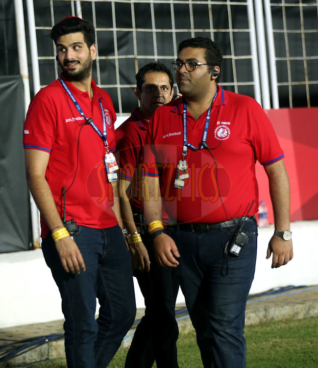Isl Staff during match 25 of the Indian Super League (ISL) season 2  between FC Goa and FC Pune City held at the Jawaharlal Nehru Stadium, Fatorda, Goa, India on the 30th October 2015.<br /> <br /> Photo by Sandeep Shetty / ISL/ SPORTZPICS