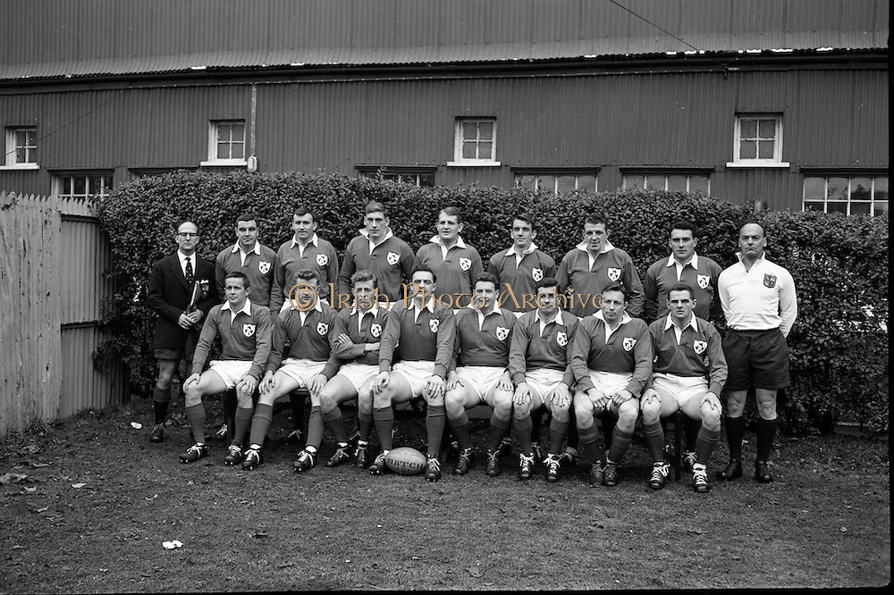Rugby International, Ireland v Wales, Lansdowne Road, Dublin.<br /> 17.11.1962