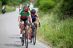 Lucinda Brand (NED) leads the front group in the closing kilometres during Stage 7 of 2019 Giro Rosa Iccrea, a 128.3 km road race from Cornedo Vicentino to San Giorgio di Perlena, Italy on July 11, 2019. Photo by Sean Robinson/velofocus.com