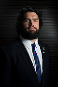 DALLAS, TX - JULY 21:  Kansas linebacker Ben Heeney poses for a portrait during the Big 12 Media Day on July 21, 2014 at the Omni Hotel in Dallas, Texas.  (Photo by Cooper Neill/Getty Images) *** Local Caption *** Ben Heeney